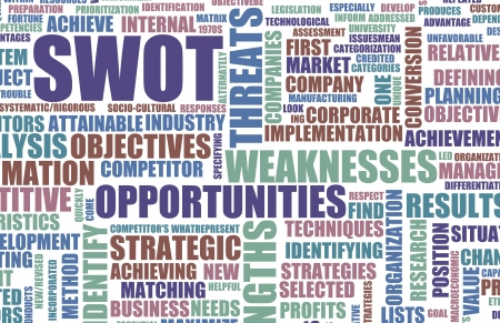 SWOT Analysis per identificare un concetto individuale photo