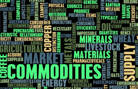 commodity: Commodities Trading on a Global Scale as Concept Stock Photo