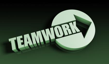 Teamwork Concept With an Arrow Going Upwards 3D Stock Photo - 22078241