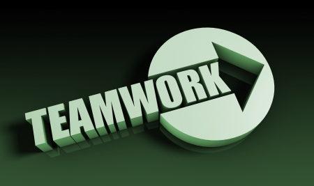 Teamwork Concept With an Arrow Going Upwards 3D Stock Photo - 22078241