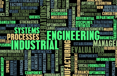 refinery engineer: Industrial Engineering Job Career as a Concept Stock Photo