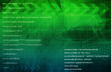 Web Application Database System in 3d Background Stock Photo - 22078274