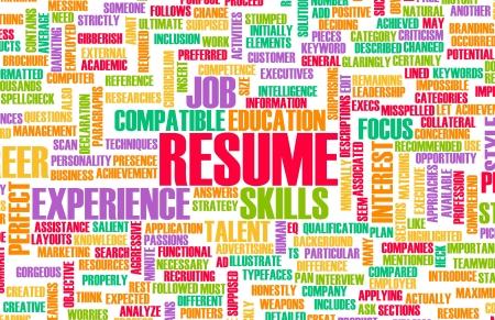 biography: Job Resume of a Well Written CV Concept