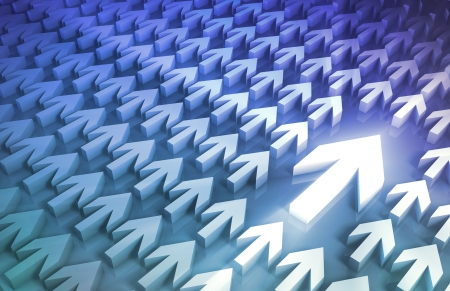 leading the way: Leadership Concept With Arrows Leading the Way