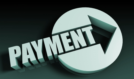 fast forward: Payment Concept With an Arrow Going Upwards 3D Stock Photo