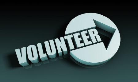 aiding: Volunteer Concept With an Arrow Going Upwards 3D Stock Photo
