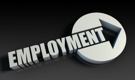 Employment Concept With an Arrow Going Upwards 3D Stock Photo - 22158317