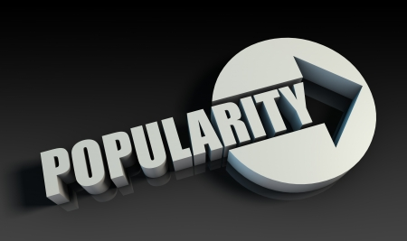 Popularity Concept With an Arrow Going Upwards 3D Stock Photo - 22158322