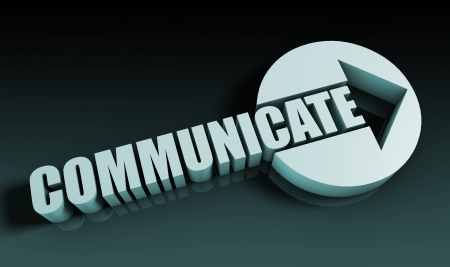 Communicate Concept With an Arrow Going Upwards 3D Stock Photo - 22175905