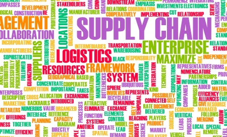 supply chain: Supply Chain Management Processes As a Concept Stock Photo