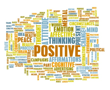 affirmations: Think Positive as an Attitude Abstract Concept Stock Photo