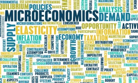 elasticidad: Microeconom?a o micro econom?a como un concepto Foto de archivo