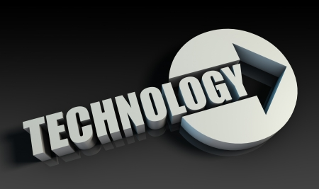 Technology Concept With an Arrow Going Upwards 3D Stock Photo - 22270690