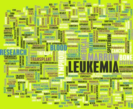leucemia: Concepto de cáncer de la leucemia como un resumen médico