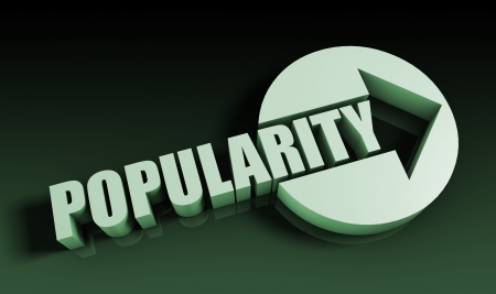 popularity: Popularity Concept With an Arrow Going Upwards 3D