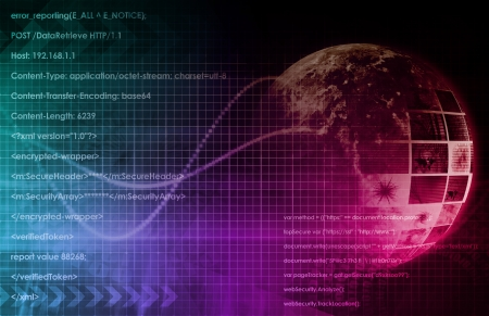 cyber security: Technology Background as a Digital Abstract Art Stock Photo