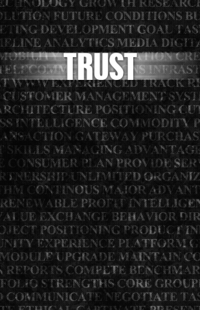Trust in Business as Motivation in Stone Wall Stock Photo - 22270780