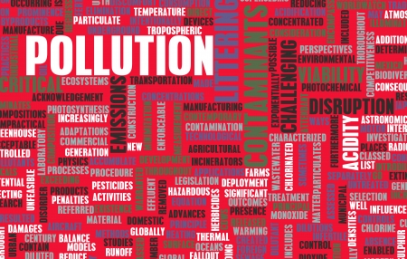 environmental issue: Pollution and Littering Global Problem as art Stock Photo