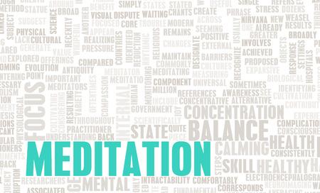 paz interior: Meditaci?n para el equilibrio y la paz interior como arte Foto de archivo