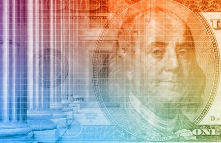 financial gains: A Finance Spreadsheet Tech Graph Art Background Stock Photo