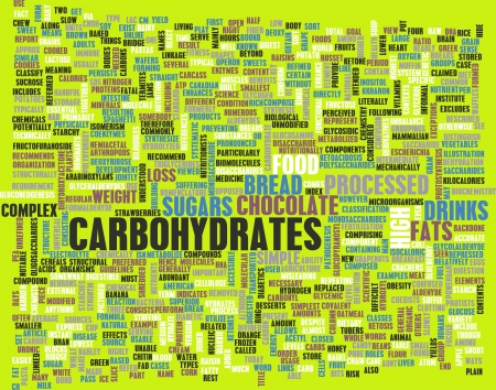kilos: Carbohydrates Weight Loss Concept with Removing It