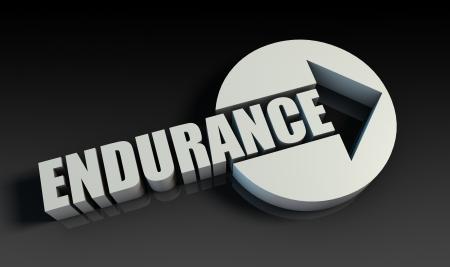 Endurance Concept With an Arrow Going Upwards 3D