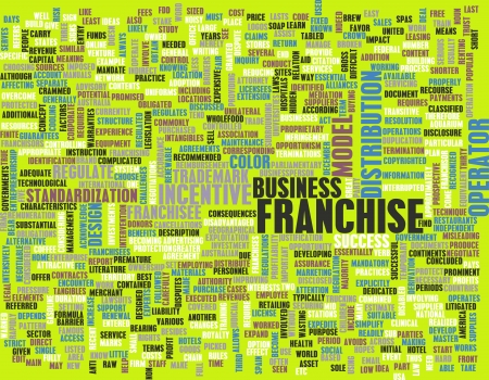 franchise: Franchise Business Concept as a Abstract Art Stock Photo