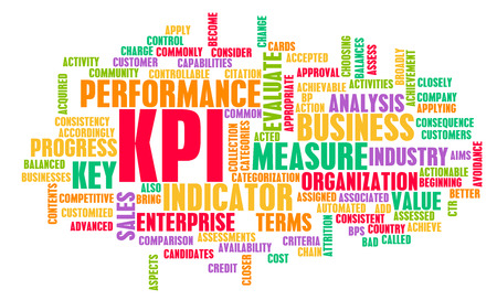 concept conceptual: KPI or Key Performance Indicator as Concept  Stock Photo