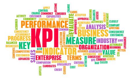 analytics: KPI or Key Performance Indicator as Concept  Stock Photo