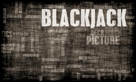 jeu de carte: Jeu de Blackjack 21 Concept avec les r?gles