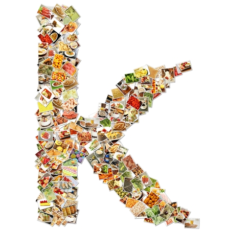 Food Art K Lowercase Shape Collage Abstract photo