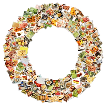 Food Art O Lowercase Shape Collage Abstract photo