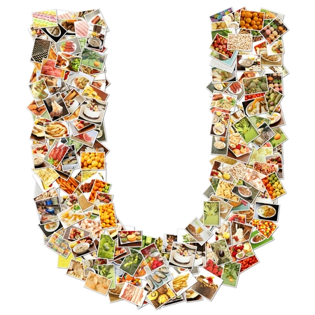 Food Art U Lowercase Shape Collage Abstract photo