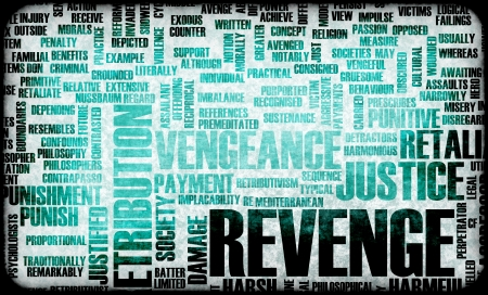 justified: Revenge and Plotting Justice in Grunge Concept Stock Photo
