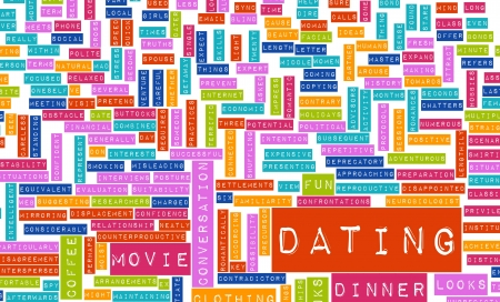 tip up: Dating Tips and Advice Checklist as Concept