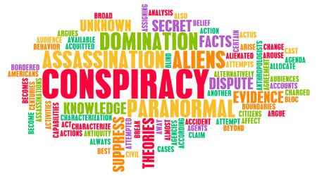 ufo conspiracy theory: Conspiracy Theory and Hidden Evidence as Concept  Stock Photo
