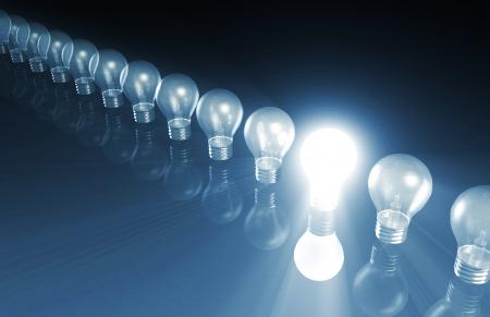 概念として点灯特別な電球と技術革新