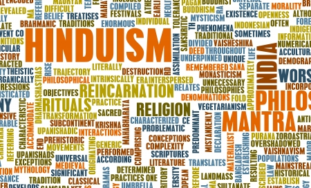belief system: Hinduism or Hindu Religion as a Concept Stock Photo