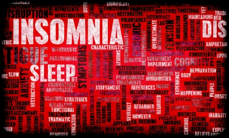 diagnosed: Insomnia a Sleep Disorder Concept in Grunge