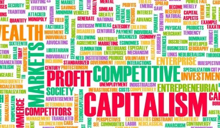 capitalismo: Capitalismo como un concepto econ?mico de crecimiento Foto de archivo