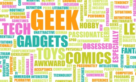 Geek Culture and Interests or Hobbies Concept Stock Photo - 22585140