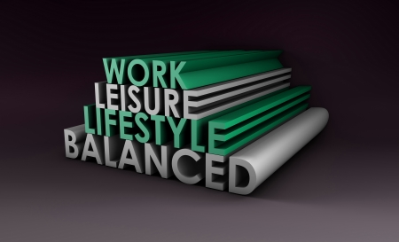 balanced: Balanced Lifestyle Concept as a Abstract in 3d Stock Photo