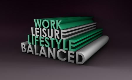 flexible: Balanced Lifestyle Concept as a Abstract in 3d Stock Photo