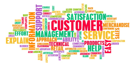 Customer Support und CS Service Industry Art
