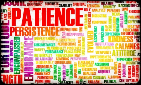 endure: Patience is a Virtue to Success and Glory Stock Photo