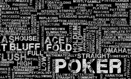 terminology: Poker Game of Texas Holdem Rules and Concept