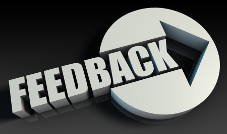 customer focus: Feedback Concept With an Arrow Going Upwards 3D