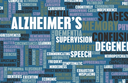 diagnosed: Alzheimers or Dementia as a Medical Condition Stock Photo