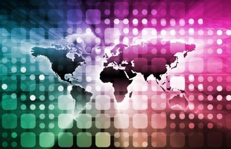teleconferencing: Business Technologies as a Conceptual Tech Art Stock Photo