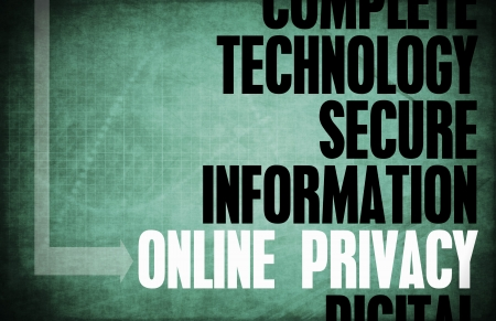 online privacy: Online Privacy Core Principles as a Concept Stock Photo